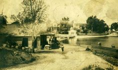 View of Webster's Store before #1906. Note the foot bridge which allowed access to this area. Vehicle traffic had to access the area by way of Pax Avenue. Can you tell how dramatically the waterline has changed? #solomons #maryland #tikibar #ISpyHistory #TBT #TBThursday #ThenAndNow