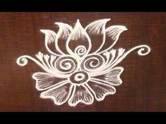 Very Creative & Simple Kolam / rangoli Design without using Dots Simple Rangoli Designs Images, Rangoli Designs Flower, Rangoli Border Designs, Rangoli Designs With Dots, Beautiful Rangoli Designs, Rangoli Borders, Rangoli Patterns, Rangoli Ideas, Kolam Rangoli