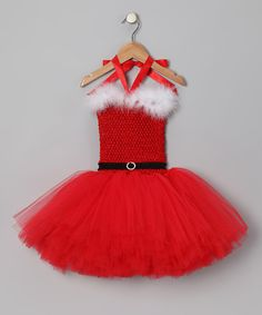 Take a look at this Red Mrs. Claus Tutu Dress - Infant, Toddler & Girls by Tutu Mania & The Strawberry Cottage on #zulily today!
