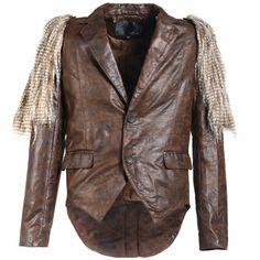 Designer Brown Two Button Gothic Punk Rock Hipster Tail Suit Jacket Men SKU-11401427
