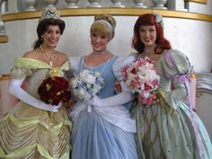 Belle from Beauty and the Beast, Cinderella from Cinderella, and Ariel from The Little Mermaid.