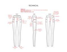 Women's legging tech sketch  #fashiondesign