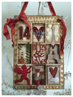 Tim Holtz Matchbox Valentines Collage