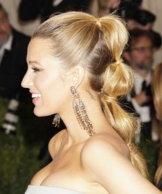 tiered ponytail - summer's hot up- do.