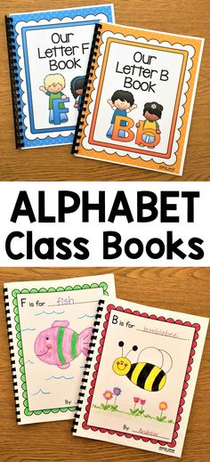 These alphabet class books are perfect for helping your children learn their beginning sounds. It is fun to put them in your classroom library so the children can look at them throughout the year while reviewing the letter sounds and admiring their classmates drawings!