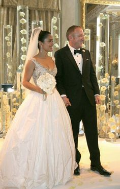 Salma Hayek and Francois-Henri Pinault happily walked down the aisle