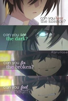 anime relationship quotes Anime quotes and memes and sexy anime artwork & drawings of manga and anime art that i find interesting and like to draw for myself as well. Charlotte Anime, Angst Quotes, Heartbreak Quotes, Boy Quotes, Anime Triste, Sad Anime Quotes, Dark Quotes, Depression Quotes, Anime Depression