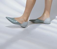 Elegant, Womens Fashion, Vintage, Leather Flats, Design, Blue Grey, Women's Shoes, Classy, Chic