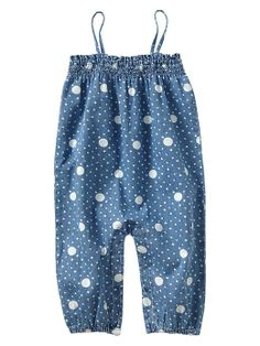 Flower dot chambray one-piece Product Image