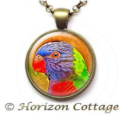 Parrot Digitally Painted  Altered Art Image  by HorizonCottage