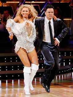 Kym Johnson & Donny Osmond dancing the Jive.