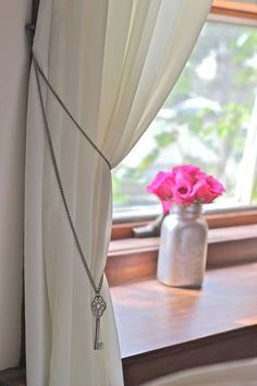 Everyone needs tiebacks to shape and form their bulky curtains. They are not only practical to use but also completes the overall decoration of your Curtain Tie Backs Diy, Curtain Ties, Drapery, Curtains, Girl Nursery, Create Yourself, Design Inspiration, Diy Crafts, Windows