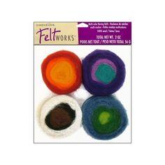 Dimensions Feltworks 100% Wool Roving Rolls - Multi
