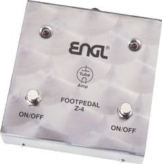 Engl Z-4 Footswitch by Engl. $129.99. This dual-button footswitch features rugged construction and can toggle two of your Engl amp functions on and off. Compatible with models E 625, E 650, E 320, E 322, E 325, E 530, and the Classic line.