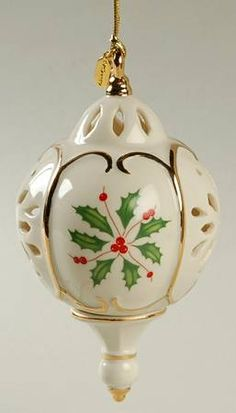 Lenox Annual Holiday Pierced Ornament 2013-Holiday Pierced Ornament - Boxed