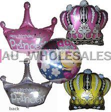Niños Bebé Princesa Cumpleaños Niña Corona Globo Party Supplies -1 Pce