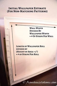 Initial estimate for how much wallpaper you need