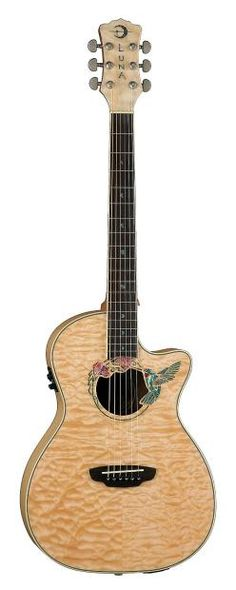 Luna Vista Eagle Tropical Woods Acoustic Electric Guitar W/ Ohsc Acoustic Electric Guitars Able New