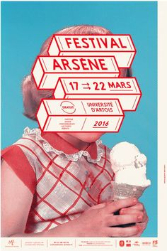 I thought the way these pieces are moving and interacting with the photo. Their is a very clean style and something we may be able to utilize. Festival poster – design by Brest Brest Brest