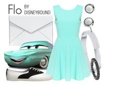 """""""Flo"""" by leslieakay ❤ liked on Polyvore featuring Kate Spade, Rebecca Minkoff, disney, disneybound and disneycharacter"""