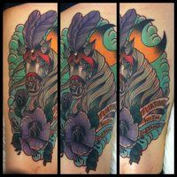 traditional horse tattoo by TorieLarson