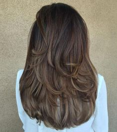 80 Cute Layered Hairstyles and Cuts for Long Hair - Hair Cut Medium Hair Cuts, Long Hair Cuts, Medium Hair Styles, Curly Hair Styles, Thin Hair, Medium Cut, Short Cuts, Haircuts For Wavy Hair, Long Layered Haircuts