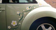 Hippy motors fab flower car stickers decals white daisy transfers.jpg (800×436)