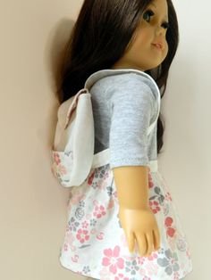 American Girl Doll Clothes Off White Twill Backack by 18Boutique