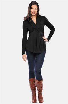 Olian Maternity 'Mandy' Cascade Front Top available at #Nordstrom