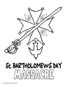 world history coloring pages printables st bartholomews day massacre