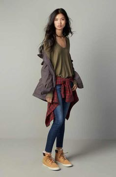 Hinge Jacket, Free People Top & AG Jeans Outfit with Accessories