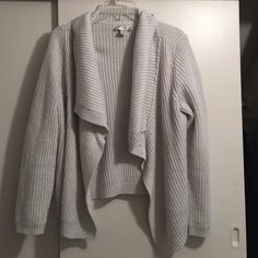 Sparkly chunky knit open sweater Very warm. Shimmer knit in. Off white. Christopher & Banks Sweaters Cardigans