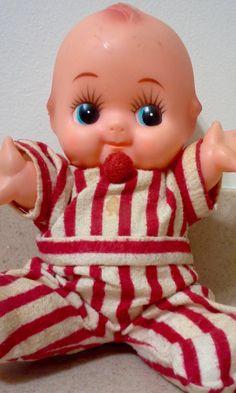 "Vintage 8"" Kewpie Poseable Vinyl Doll, Vintage Kewpie Dolls, Kewpie, Collectible Dolls, Vinyl Kewpie, Carnival Prize, Vintage Carnival Prize by Lalecreations on Etsy"