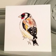 Goldfinch Garden Bird Greetings Card