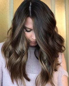 Likes, 27 Comments – Glen Mills,PA Balayage Artist ( on… - Modern Hair Color And Cut, Hair Color Balayage, Long Hair Cuts, Brunette Hair, Long Brunette, Dream Hair, Hair Today, Pretty Hairstyles, Layered Hairstyles