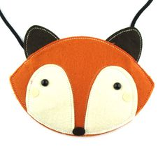 - Description - Details Play dress up with this adorable fox shaped animal themed bag in orange! It's handmade from felt and designed for kids! Fun and cute! For more animal themed bags and purses jus