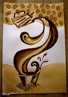 Arfé: Coffee Painting - Cafe style kitchen . Love this picture for my  dining room