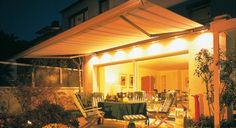 The Weinor Opal 2001 Lux is a fantastic full cassette awning with built-in lighting as standard to provide a warm, inviting atmosphere to your exterior awning space.