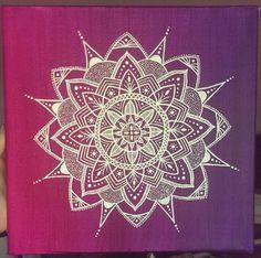 Mandala painting acrylic canvas