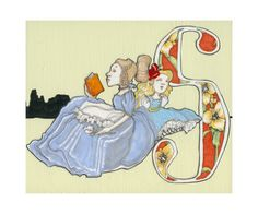 S is for Sister- 9x7.5 Wonderland Alphabet Print