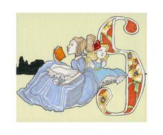 S is for Sister- 9x7.5 Wonderland Alphabet Print