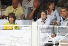 Athina Onassis and Alvero de Miranda attend the 15th Monte Carlo International Jumping on June 25, 2010 in Monte-Carlo, Monaco.
