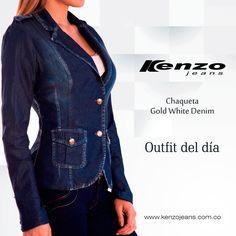Seguimos con nuestra tendencia #DenimOverDenim, hoy combina una chaqueta con cierre de botones junto con una blusa basic y arma un outfit con todo el estilo #KenzoJeans Conoce más en www.kenzojeans.com.co