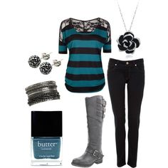 """""""Boots and Lace"""" by justifitz on Polyvore"""