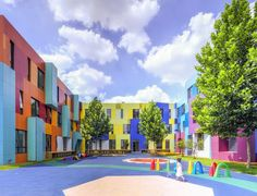 Image 1 of 20 from gallery of The Paradise of Color / Atelier Alter. Photograph by Courtesy of Atelier Alter Best Architecture Schools, Kindergarten Architecture, Kindergarten Design, Colour Architecture, Amazing Architecture, Contemporary Architecture, Chinese Architecture, Architecture Office, Futuristic Architecture