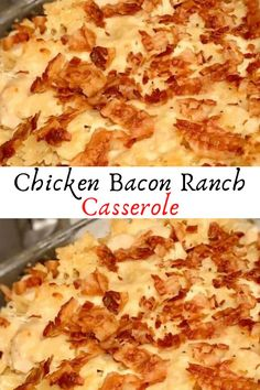 Chicken Bacon Ranch Casserole #Chicken #Bacon #Ranch #Casserole