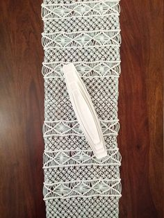 Handwoven Macrame Table Runner Handmade Wedding Table Runner