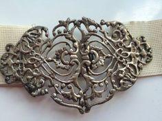 """Silver c.1920 """"Nurse's Buckle""""  [eBay]"""