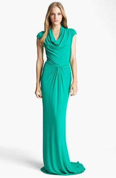 Michael Kors Cowl Neck Matte Jersey Gown available at #Nordstrom    I wonder if Michael would make this for me in white? :)