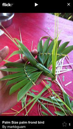 Palm leaf bird
